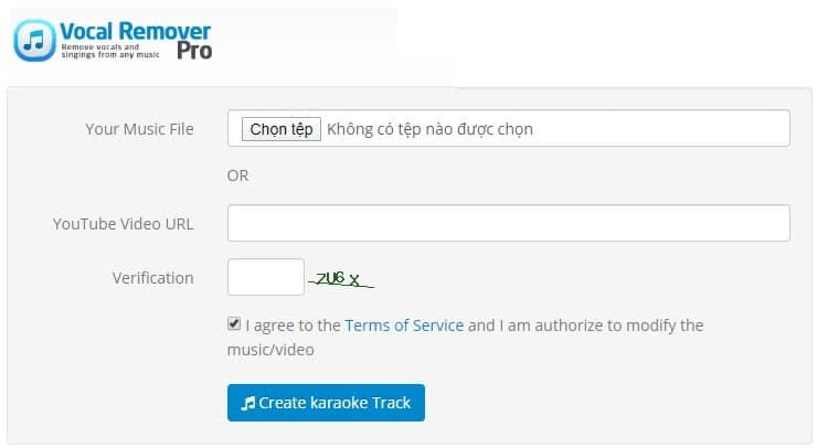 Cách tách lời ra khỏi bài hát online bằng Vocal Remover Pro
