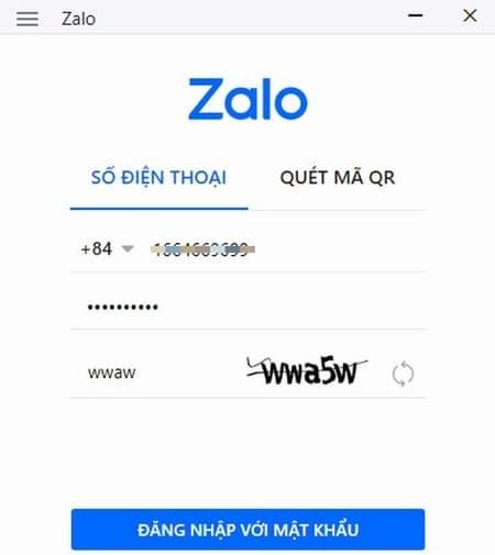 Đăng nhập vào phần mềm Zalo trên máy tính, laptop