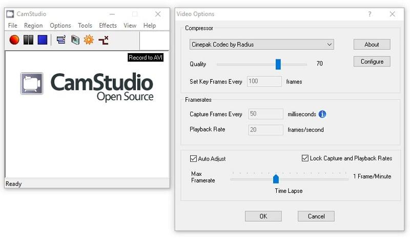Quay màn hình máy tính với phần mềm CamStudio