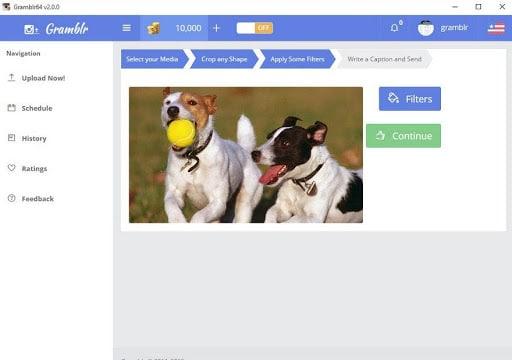 Cách đăng hình lên Instagram bằng máy tính qua ứng dụng Gramblr