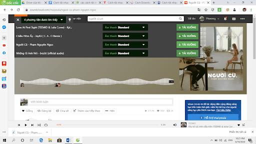 Cách tải nhạc trên SoundCloud bằng Cốc Cốc