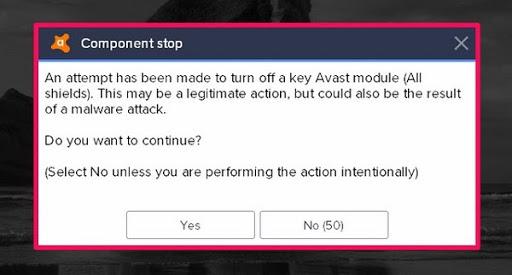 avast free antivirus win 10 - Tắt một số chức năng không cần thiết