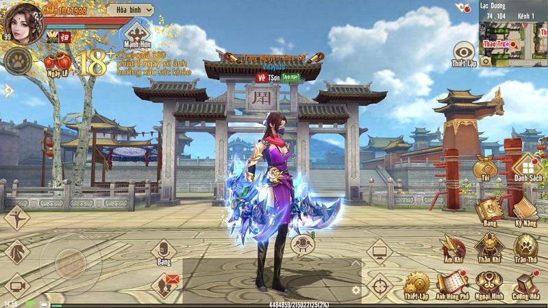 Tân Thiên Long game Mobile đem lại cảm giác quen thuộc