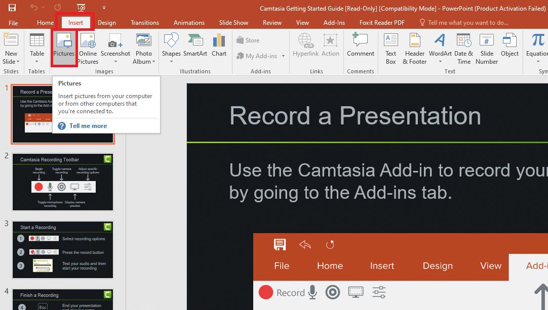 Cách chèn hình động vào powerpoint từ hình ảnh trong một thư mục trên máy tính của bạn