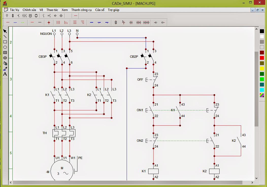 Phần mềm vẽ mạch điện công nghiệp CADe-SIMU