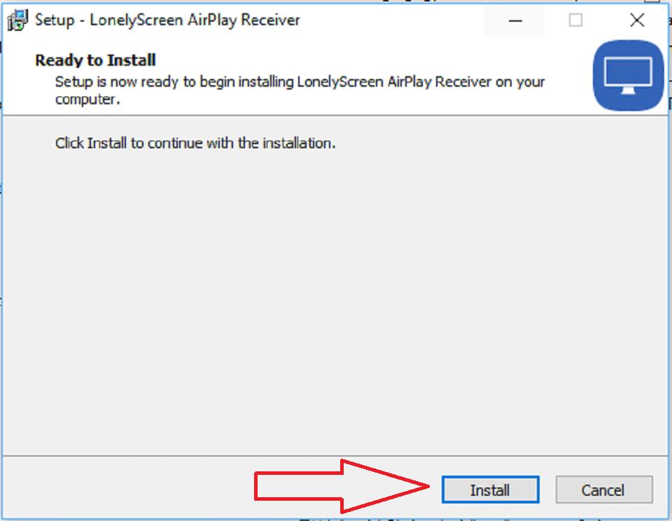 Cài đặt phần mềm Lonelyscreen để kết nối điện thoại ios với máy tính