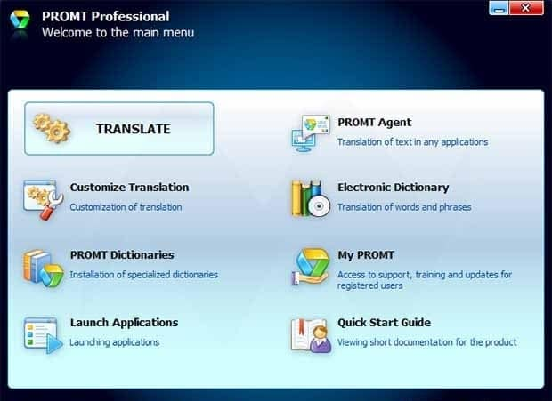 Phần mềm dịch tiếng Anh Prompt Professional 12 Offline Translation
