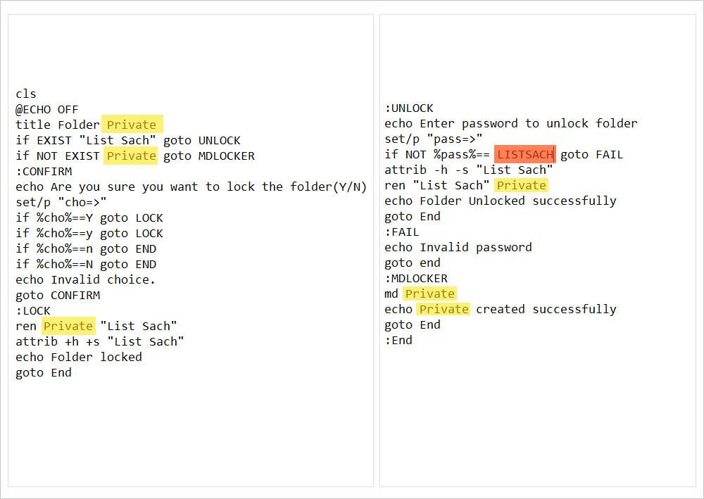 Bước 3: Chỉnh sửa tên thư mục và mật khẩu
