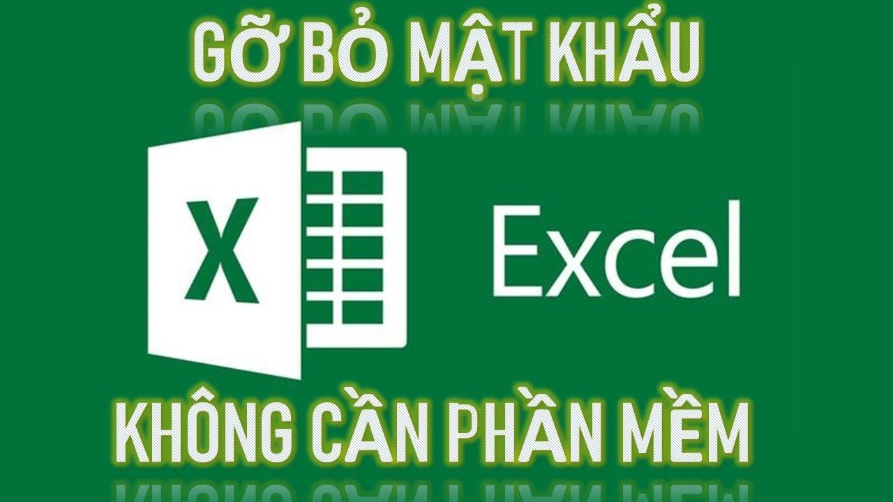 Cách mở file excel bị khóa pass không cần phần mềm