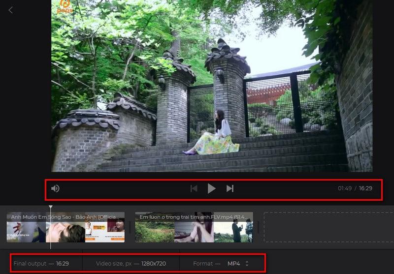 Cách tính năng chính trên ứng dụng Merge video