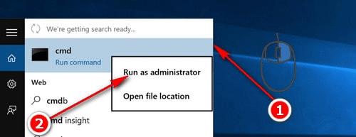 chọn Run as administrator