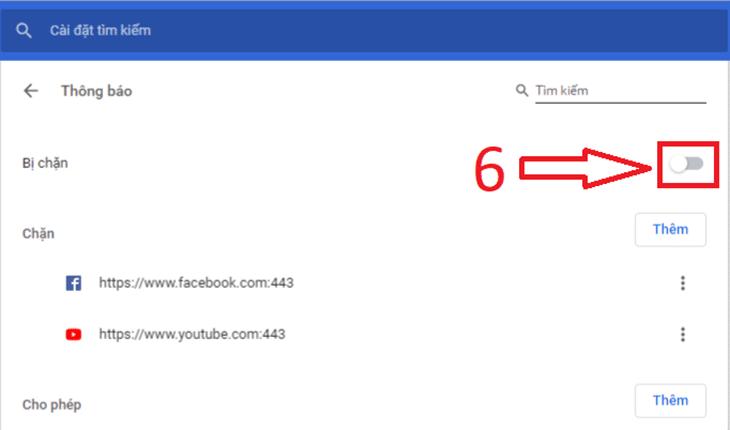 """Chọn Tắt trong phần """"Hỏi trước khi gửi"""" - Tắt thông báo Google Chrome"""