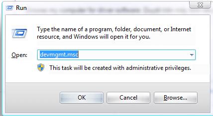 Đi tới Run để tìm kiếm Device Manager