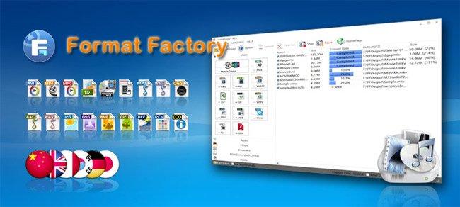 Format Factory - Phần mềm đổi đuôi video