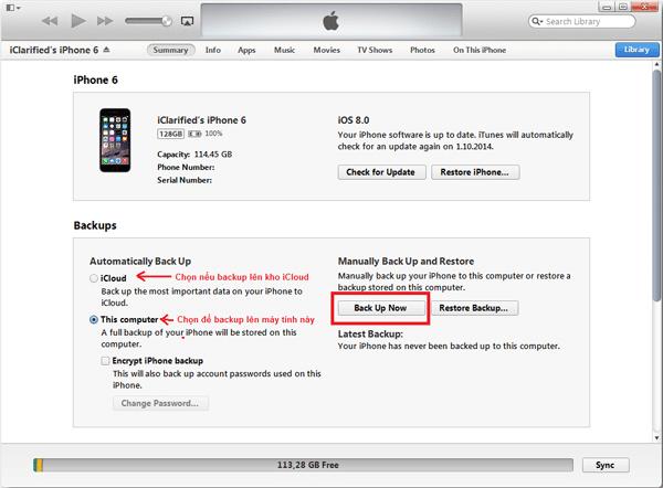 Khôi phục iPhone bị vô hiệu hóa bằng ITunes