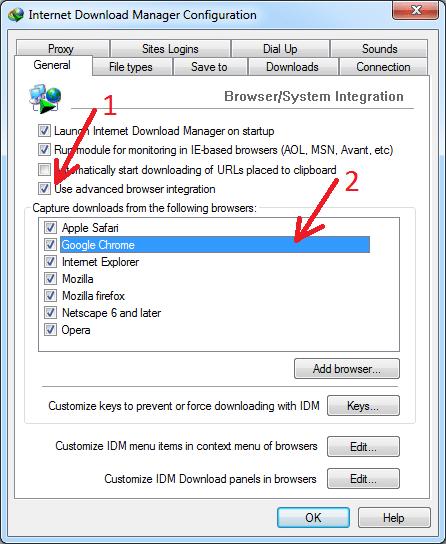 Kích hoạt tính năng tích hợp IDM vào Chrome
