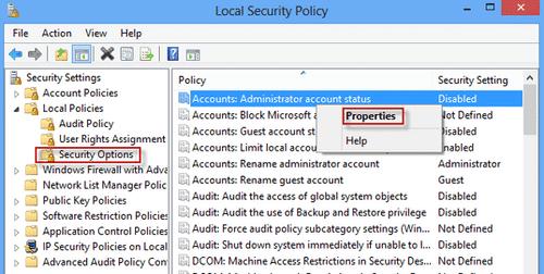 Nhấn chuột phải và chọn Properties >Enabled để kích hoạt tài khoản Administrator trên Windows.