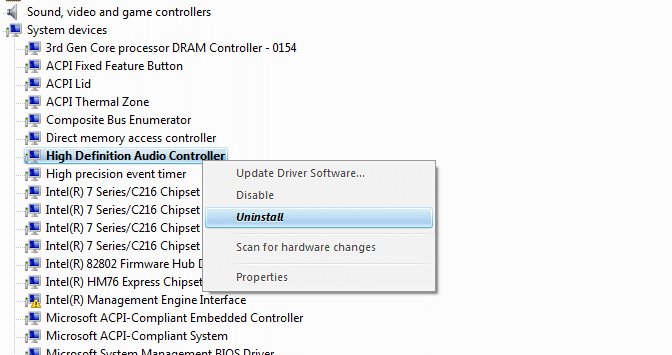 Nhấp chuột phải và chọn Uninstall