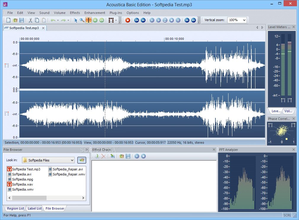 Phần mềm Acoustica Basic Edition