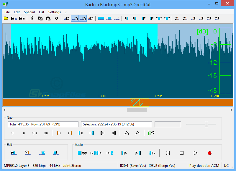 Phần mềm cắt ghép nhạc chuyên nghiệp Mp3DirectCut