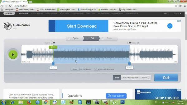 Phần mềm cắt ghép nhạc chuyên nghiệp Online MP3 Cutter