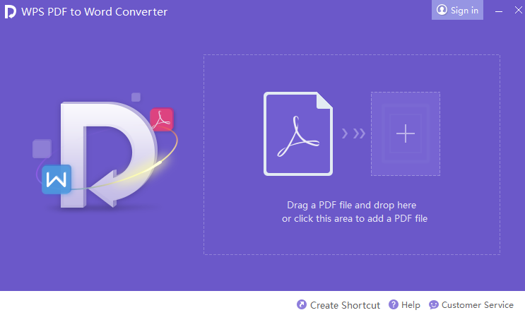 Phần mềm chuyển pdf sang word không lỗi font WPS PDF to Word Converter