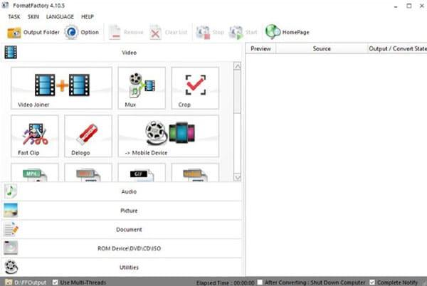 Sử dụng công cụ Format Factory để ghép 2 video thành 1 online