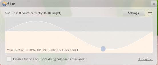 Sử dụng phần mềm F.lux để điều chỉnh độ sáng màn hình