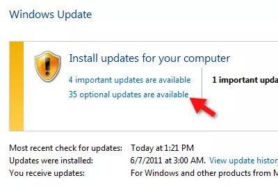 Sử dụng Windows Update Optional Updates để tải xuống gói ngôn ngữ