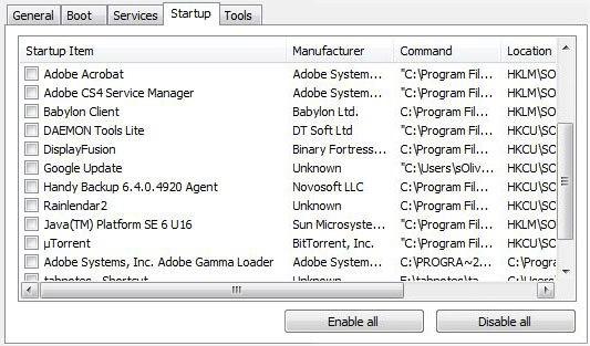 Tắt các dịch vụ (services) chạy ngầm trên Background