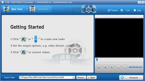 Total Video Converter - phần mềm đổi đuôi video