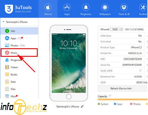 3uTools - phần mềm chép nhạc vào iphone không cần itunes