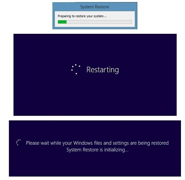 Cách reset máy tính win 7 từ điểm khôi phục trước đó