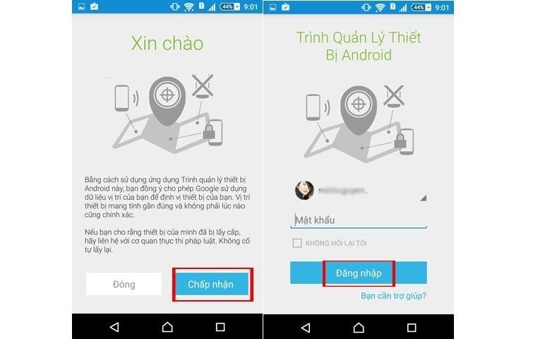 Cách sử dụng trình quản lý thiết bị Android trên điện thoại để tìm điện thoại bị mất