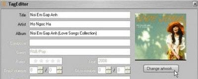 Quản lý Thư viện Theo Thông tin Album trên Copytrans Manager