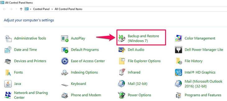 Tạo và khôi phục Windows 7 trong file backup