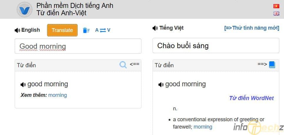 phần mềm dịch tiếng Anh