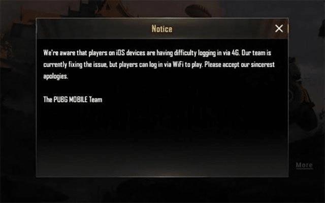 lỗi không vào được game pubg mobile trên pc
